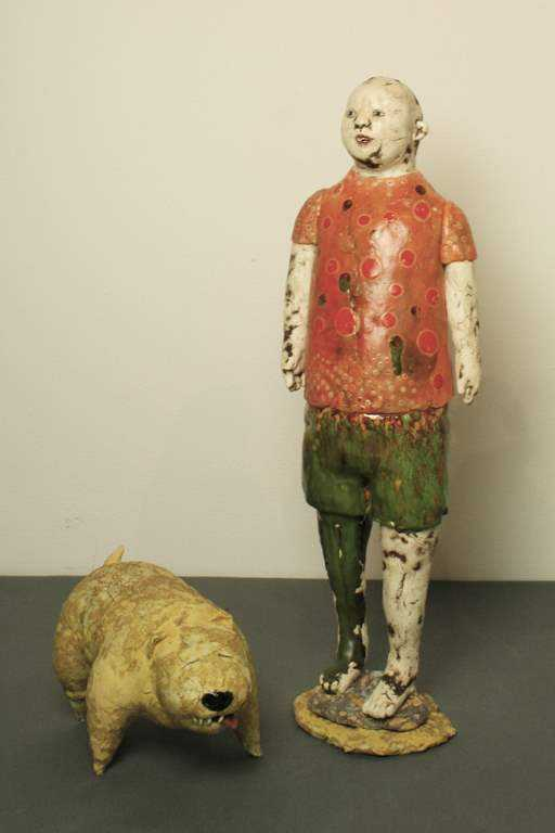 Boy With His Dog by  Jo Rowley - Masterpiece Online