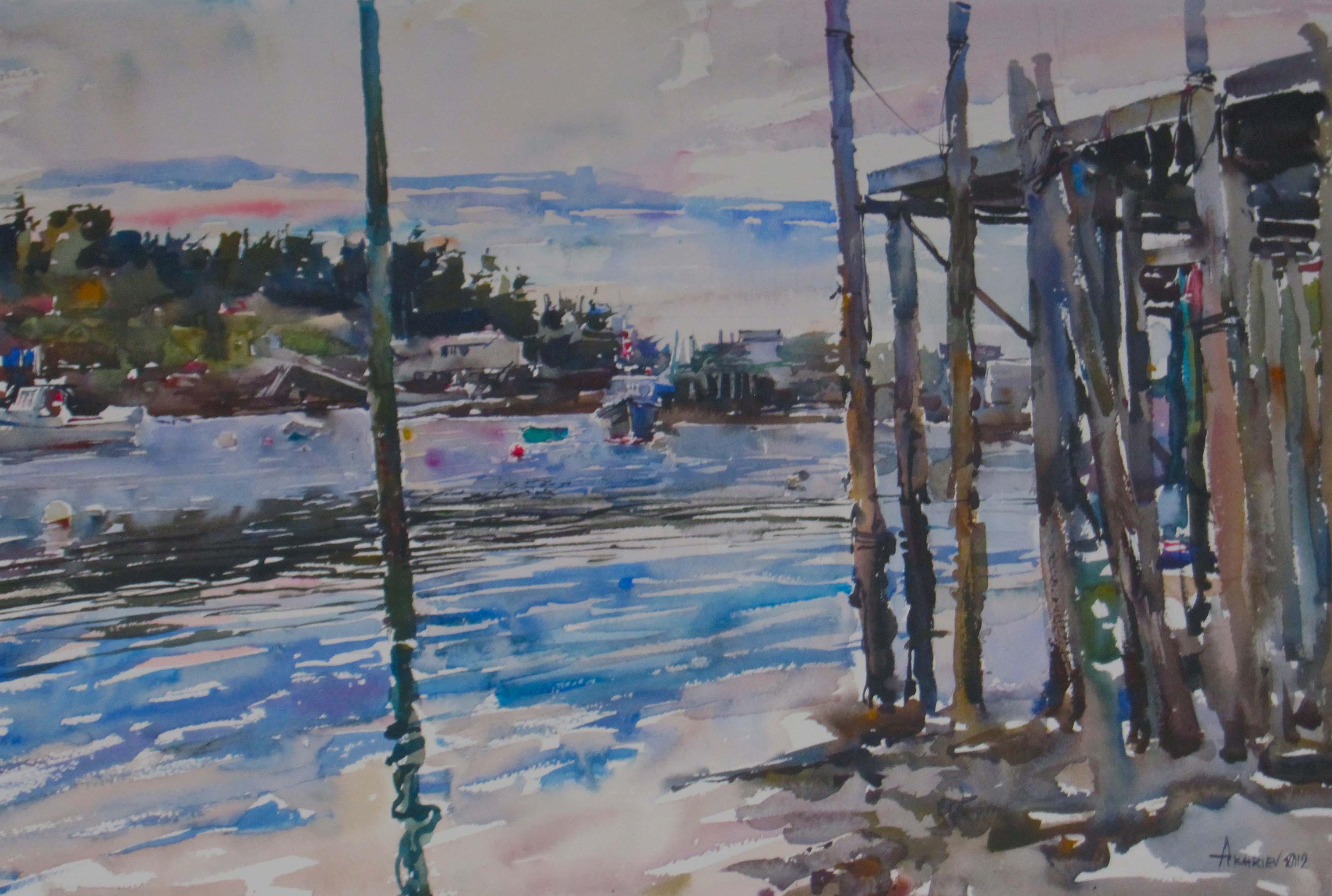 Under Zack's Wharf by  Daud Akhriev - Masterpiece Online