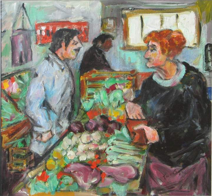 At the Market by  Tom Maley - Masterpiece Online