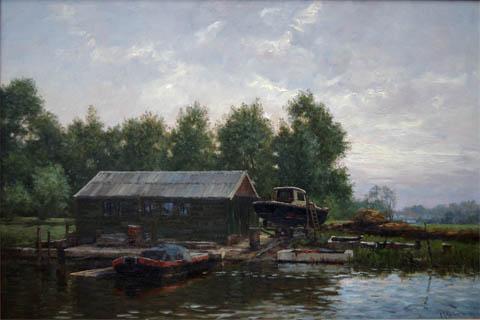 The Boatyard by   Goosens - Masterpiece Online