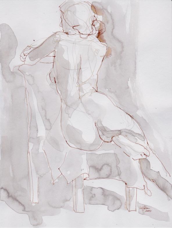 Figure Sketch: 2 by  Melissa Hefferlin - Masterpiece Online