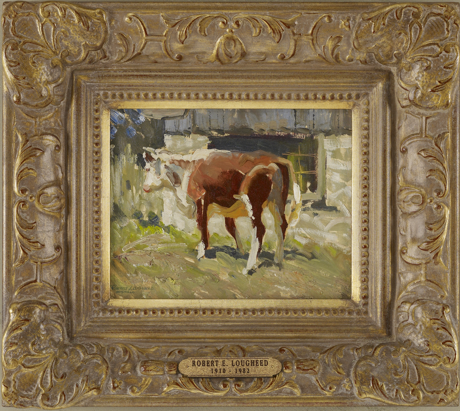 Hereford Cow - Ontario by  Robert Lougheed - Masterpiece Online