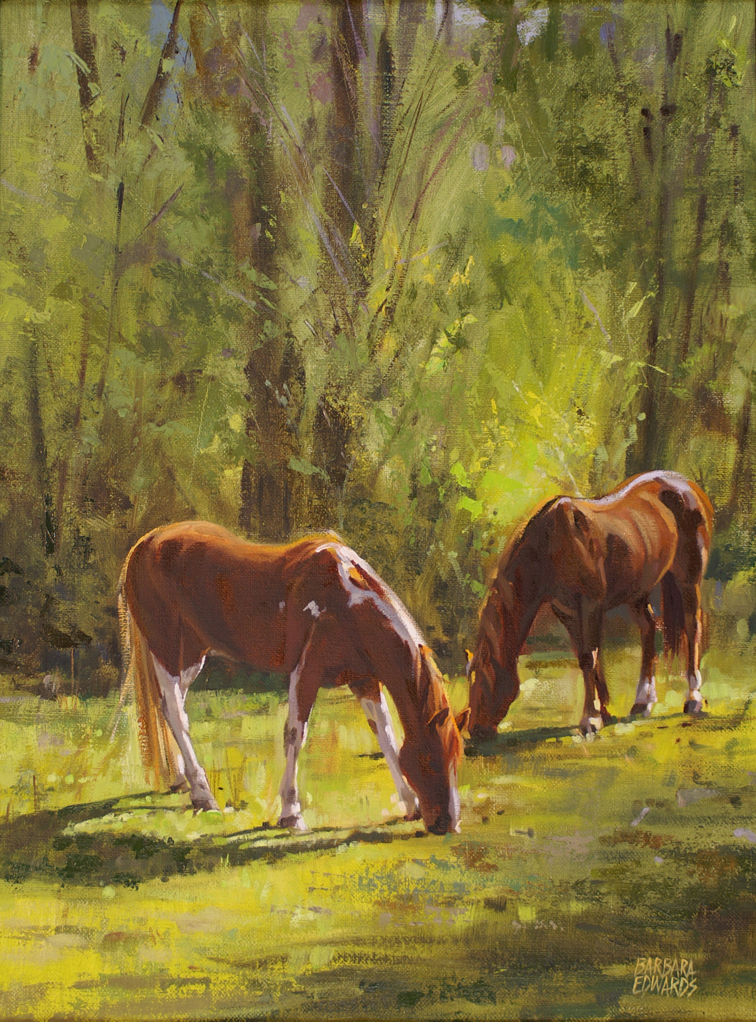 SOLD- Morning Sun by  Barbara Summers Edwards - Masterpiece Online