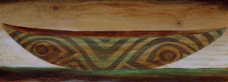 Green Canoe In Moonli... by  Steve Jensen - Masterpiece Online