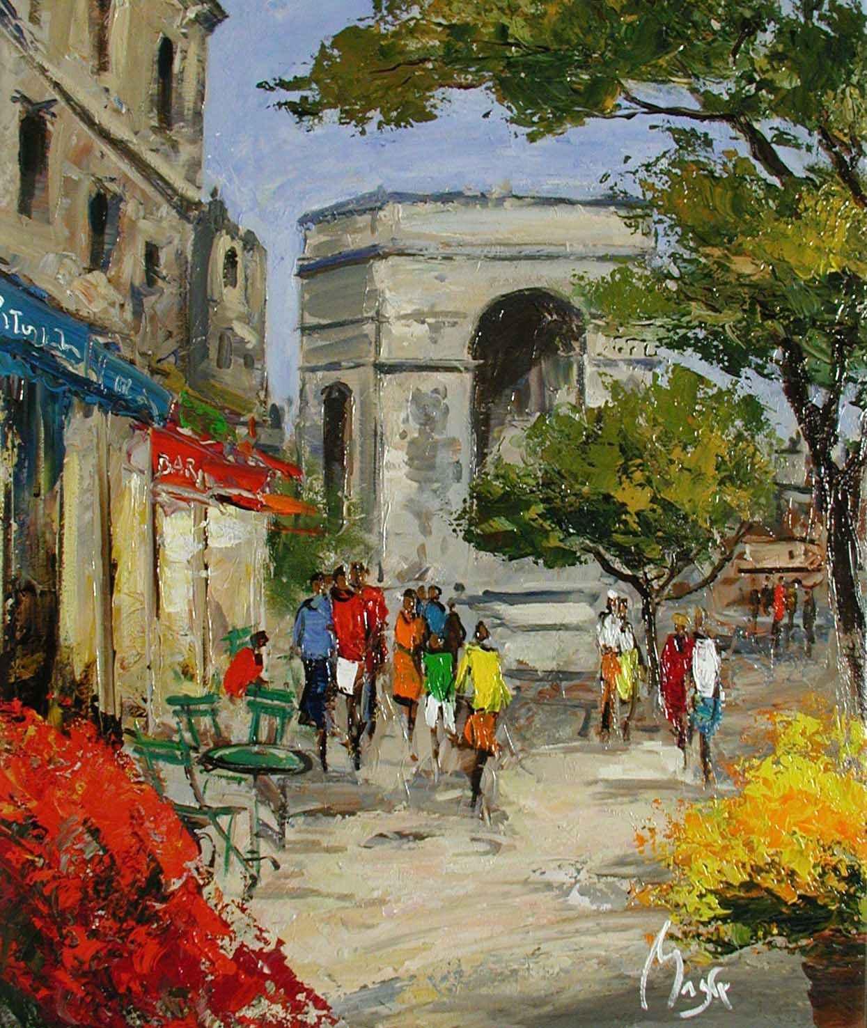 LArc de Triomphe by  Louis  Magre - Masterpiece Online