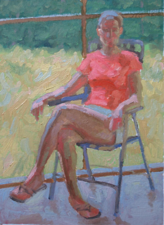 Sheri on the Back Por... by  Melissa Hefferlin - Masterpiece Online