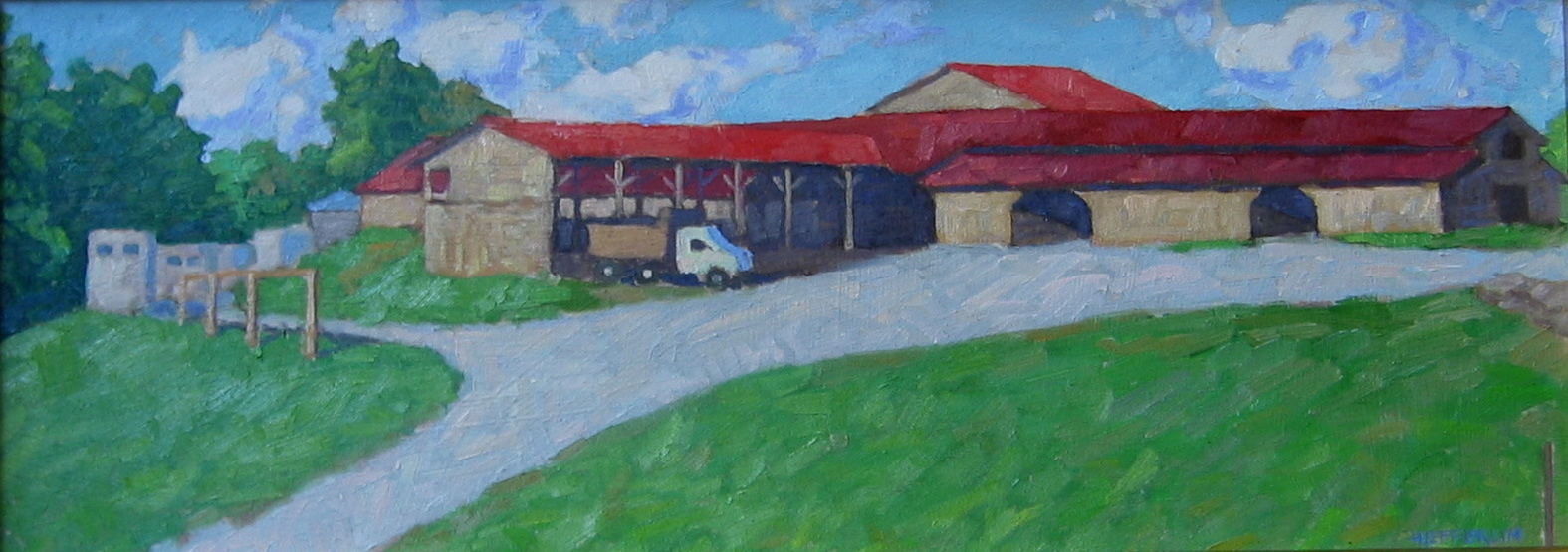 Sunset at the Stables by  Melissa Hefferlin - Masterpiece Online