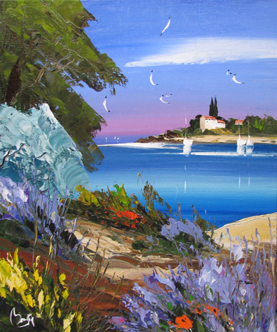 Bay of Blue by  Louis  Magre - Masterpiece Online