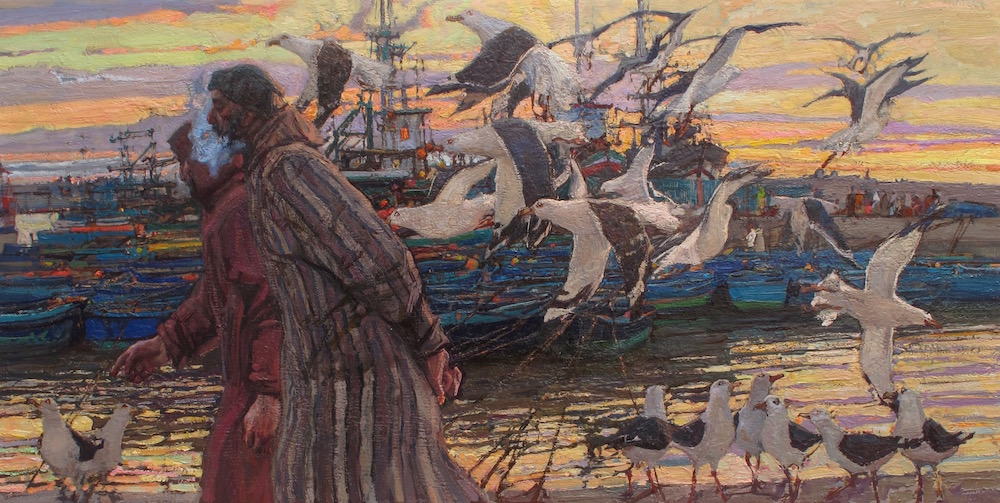 Harbor Conversations by  Daud Akhriev - Masterpiece Online