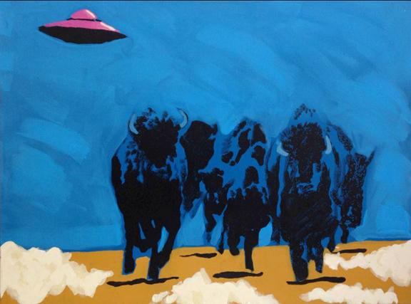 BUFFALO FIELDS FOREVE... by  Frank Buffalo Hyde - Masterpiece Online