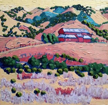 Barn on San Simeon Rd by  Char  Michelson  - Masterpiece Online