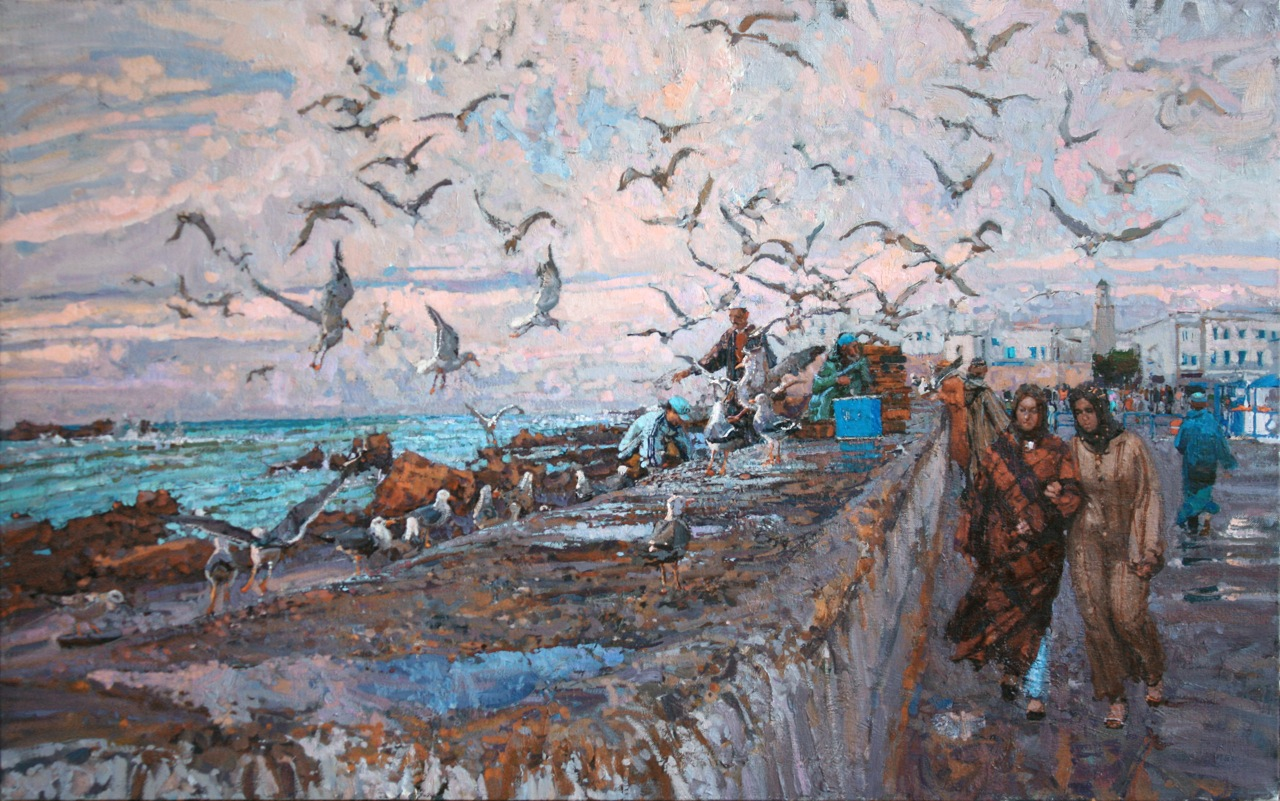 Moroccan Promenade by  Daud Akhriev - Masterpiece Online