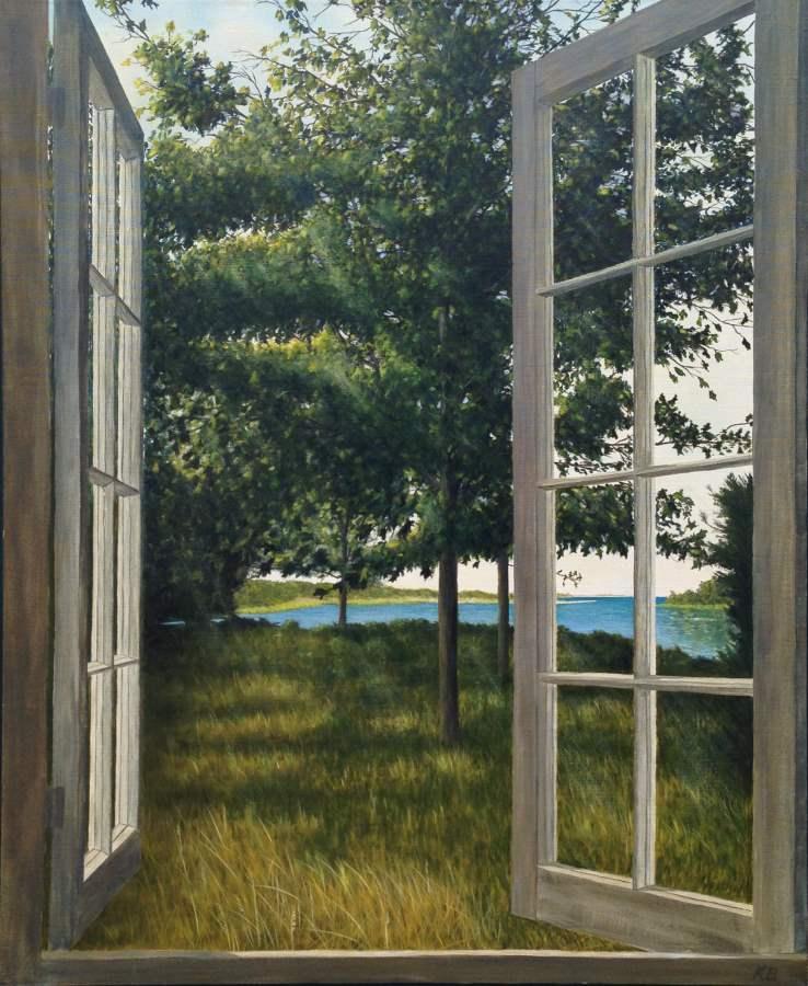 View from My Studio -... by  Kib Bramhall - Masterpiece Online
