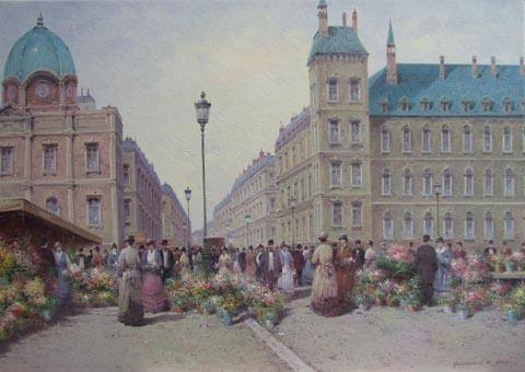 Flower Market by  Vasily Gribennikov - Masterpiece Online
