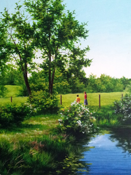 Wild Roses at Pond, M... by   Teresa  Wheeler - Masterpiece Online