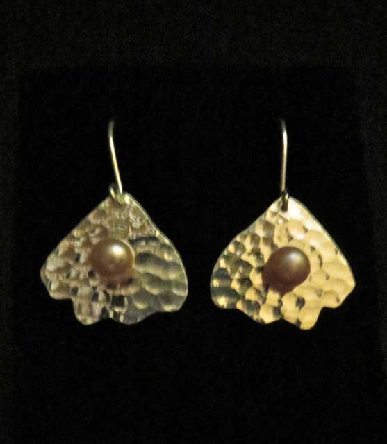 Silver earrings with ... by Mrs. Lana McMahon - Masterpiece Online
