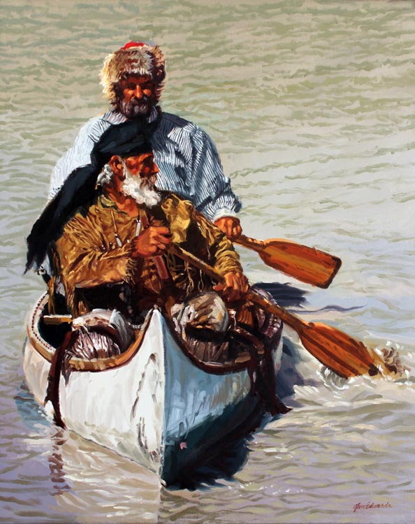 A NEW WORK- Paddling... by  Glen Edwards - Masterpiece Online