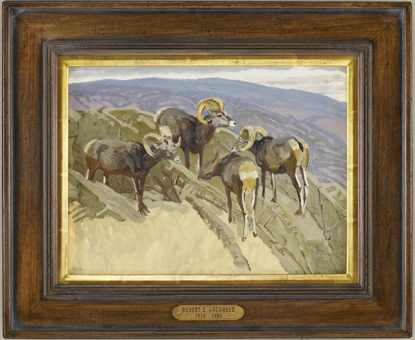 Stone Sheep Vignette by  Robert Lougheed - Masterpiece Online