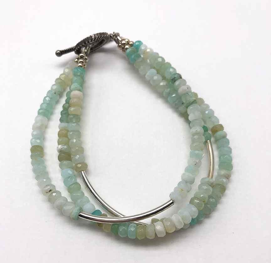 Opal and Sterling Bracelet