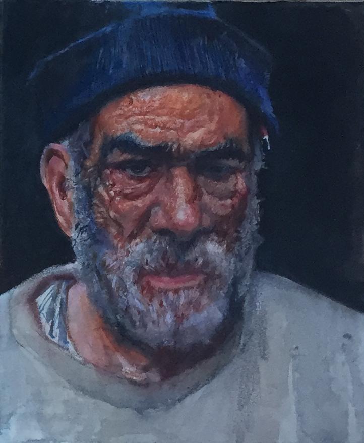Carpenter (Watercolor... by  Daud Akhriev - Masterpiece Online