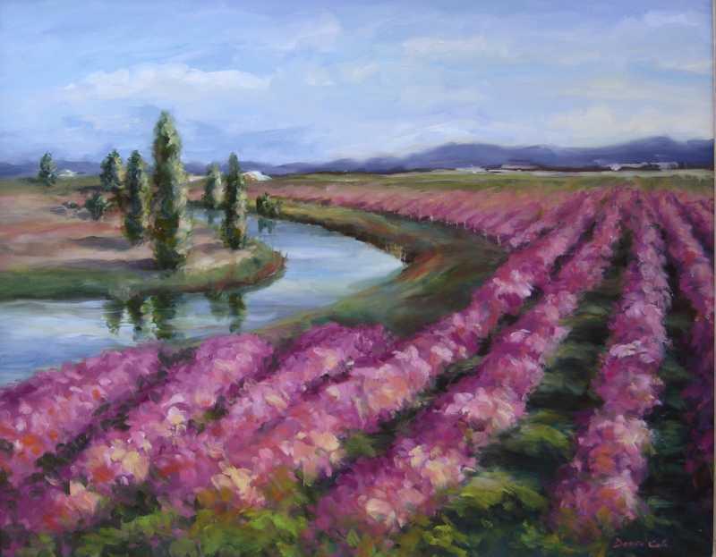Skagit Blueberries In... by Mrs Denise Cole - Oils - Masterpiece Online