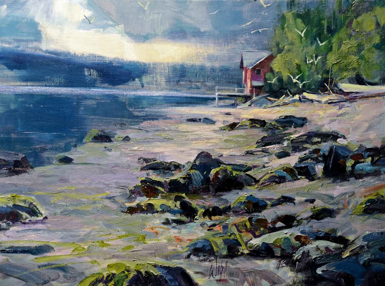 Feast at Low Tide by  Mike Wise - Masterpiece Online