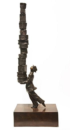Hatbox Man by  Michael Hermesh - Masterpiece Online