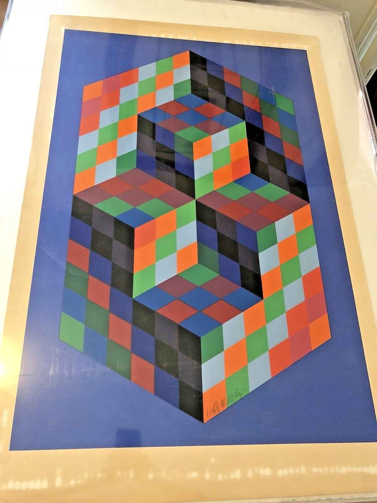 Untitled Cubes/Hexagon by  Victor Vasarely - Masterpiece Online