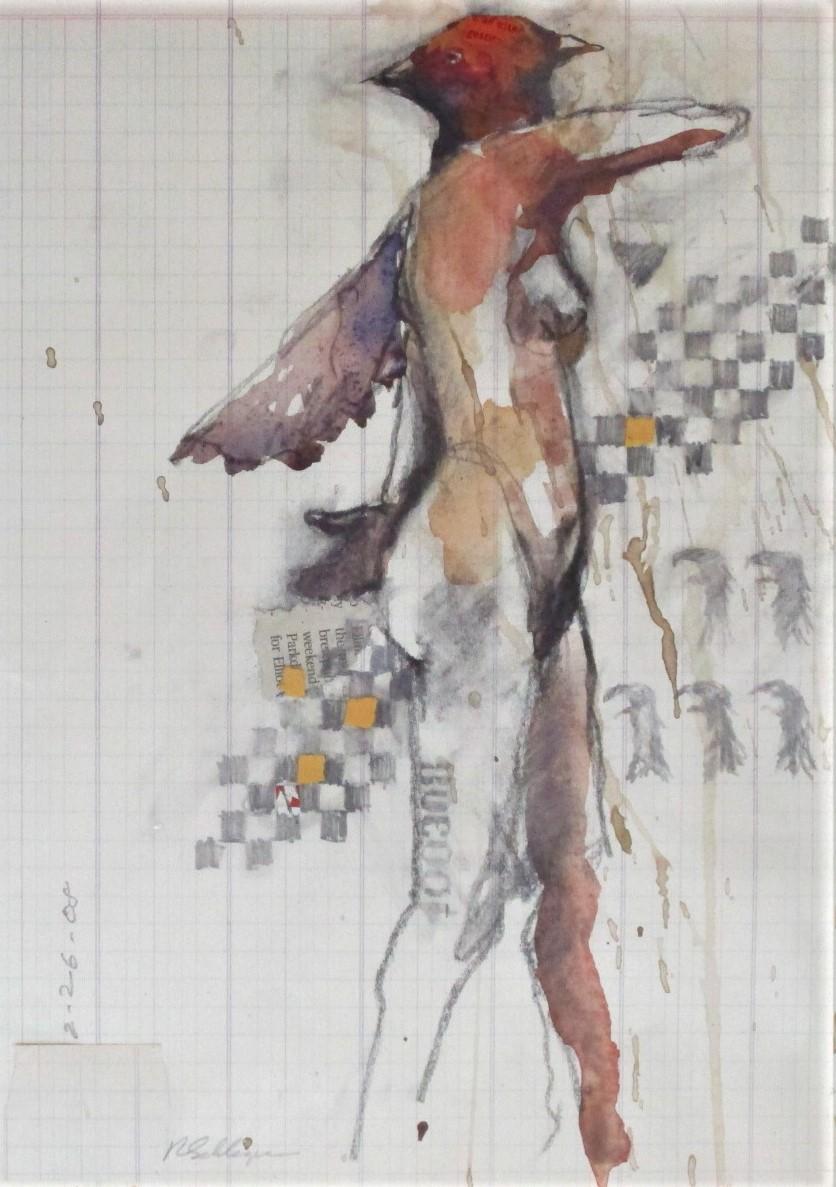 Walking Bird Woman by  Robert Schlegel - Masterpiece Online