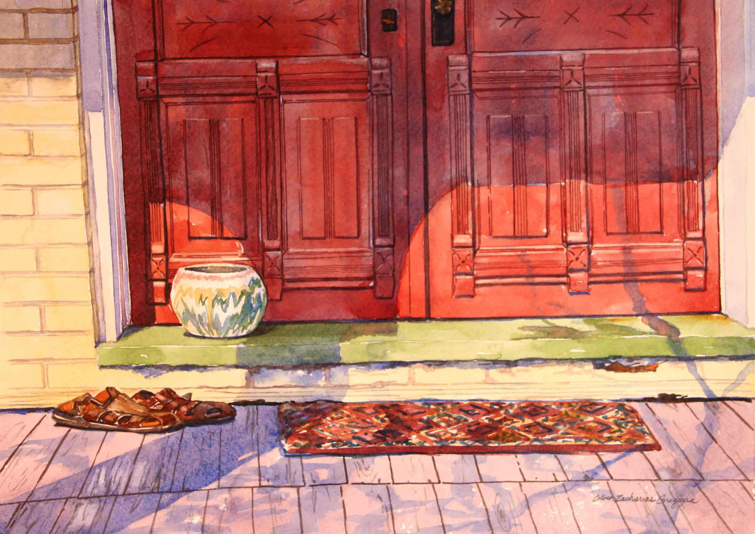 Red Doors  by  Colleen Gregoire