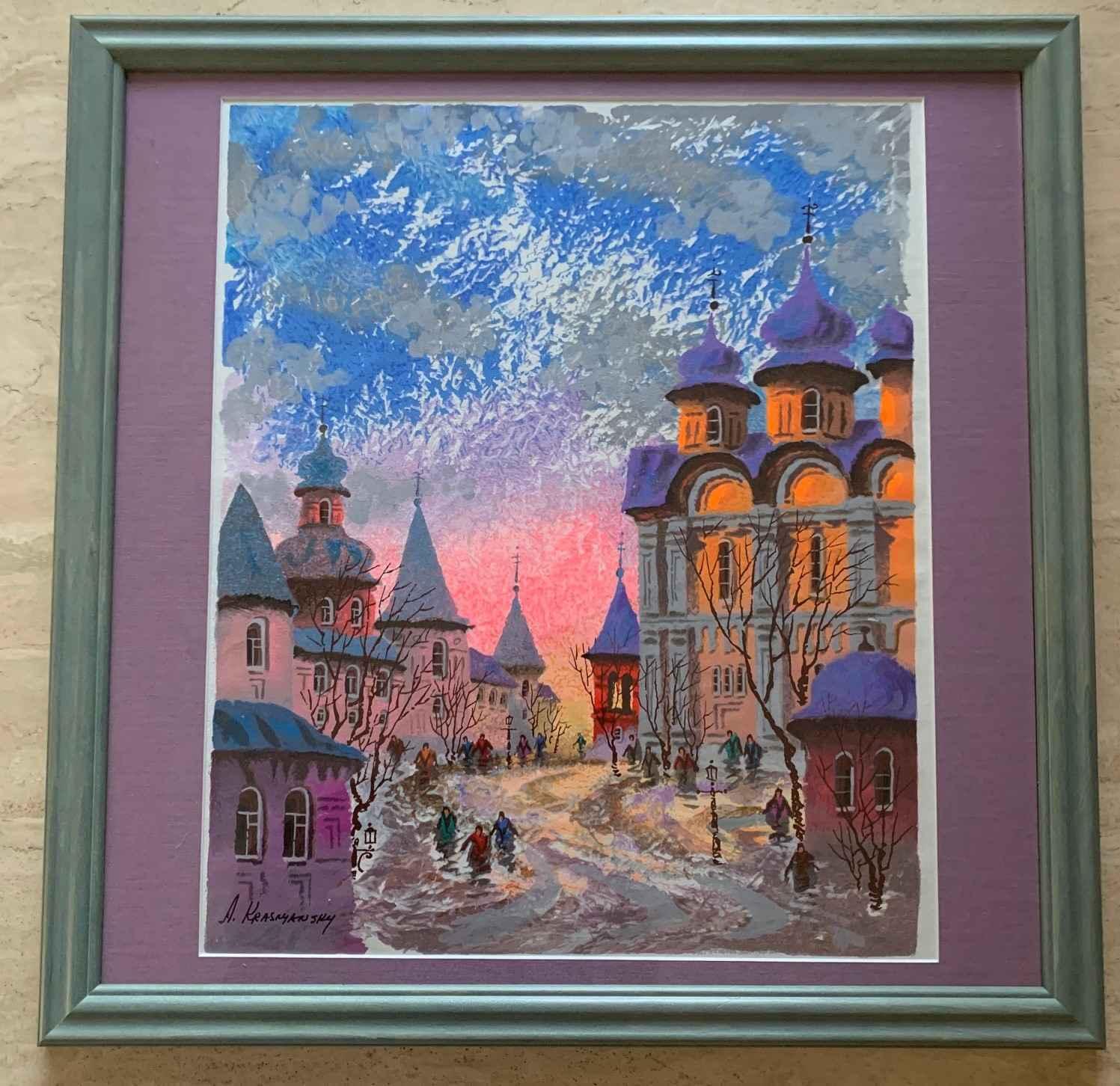 Street of Old Prague by  Anatole Krasnyansky - Masterpiece Online