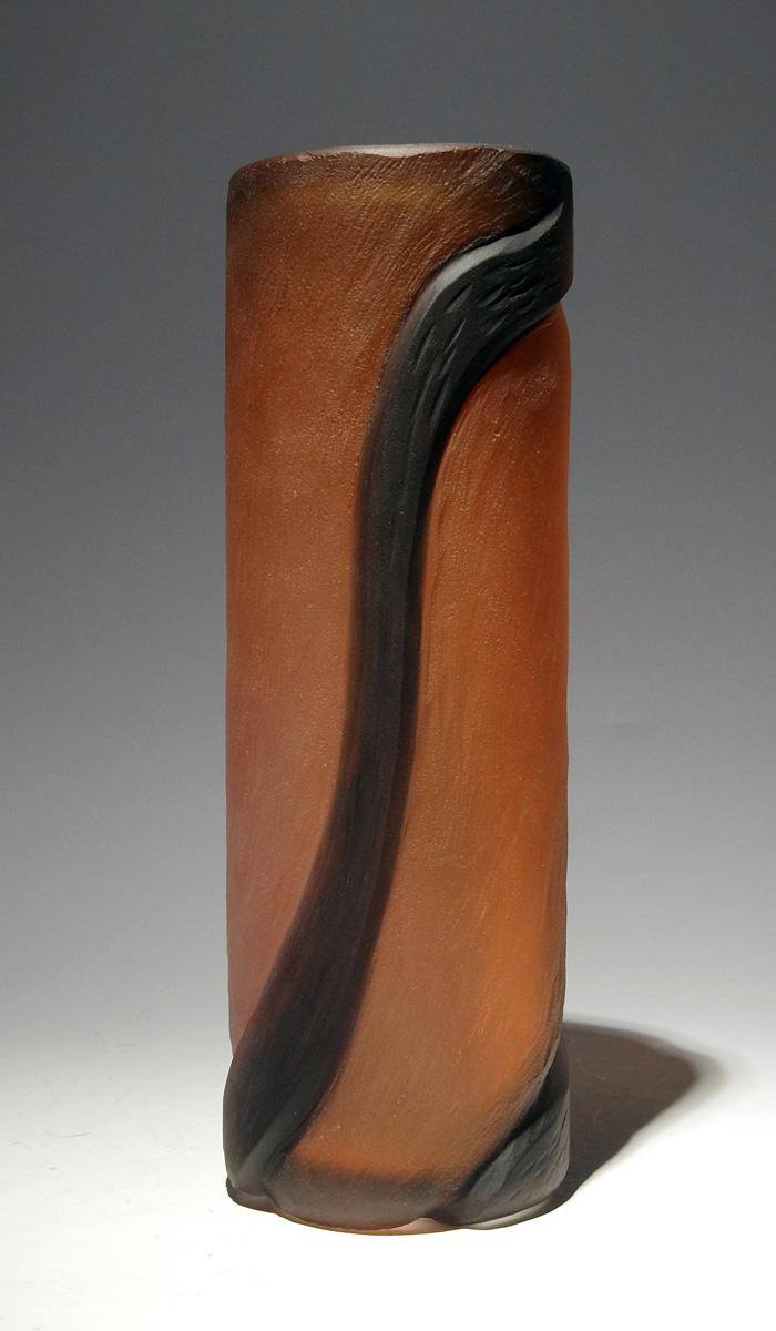 Carved Vessel/Orange ... by  Brad Copping - Masterpiece Online