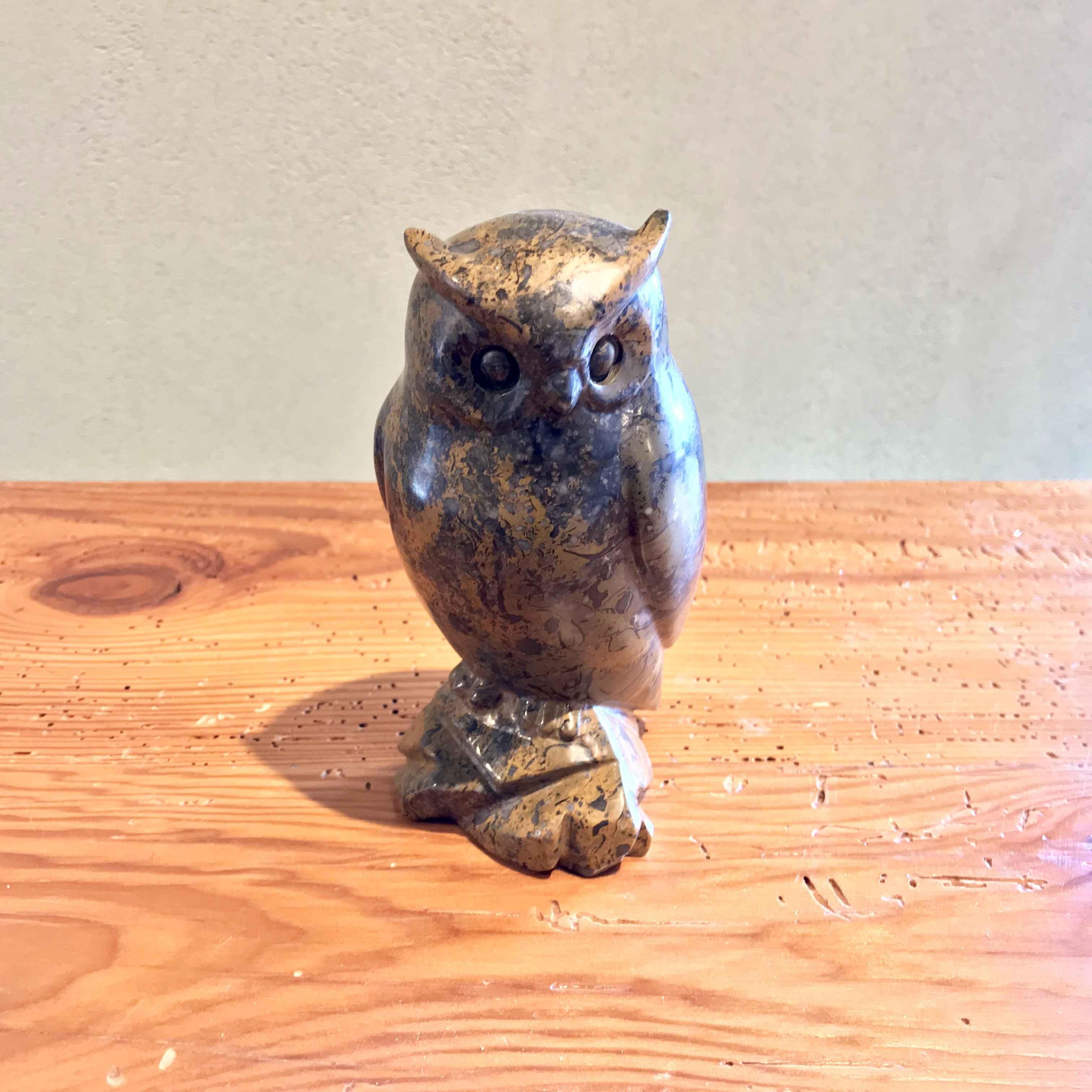 OWL fossil stone #9-4... by  Ken Q Li - Masterpiece Online