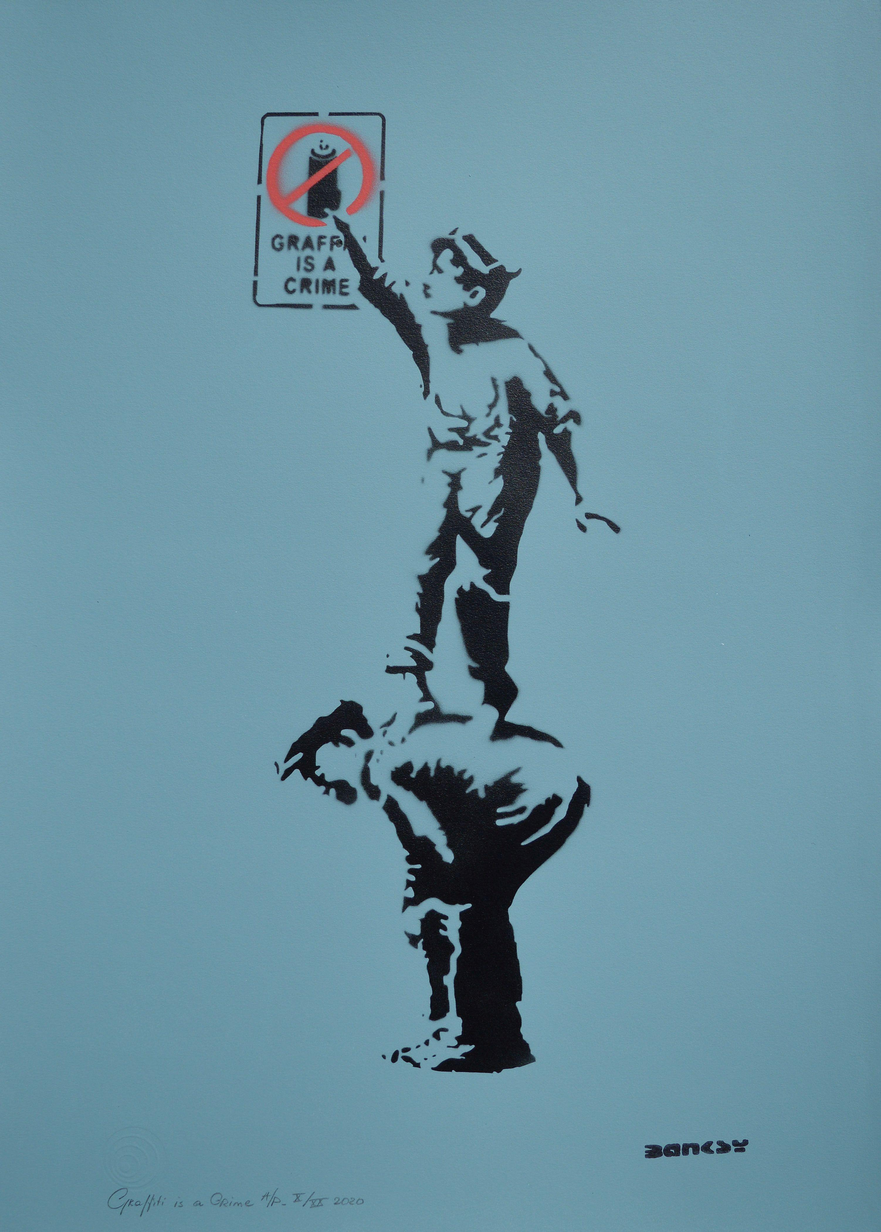 Graffiti is a Crime by   Banksy - Masterpiece Online