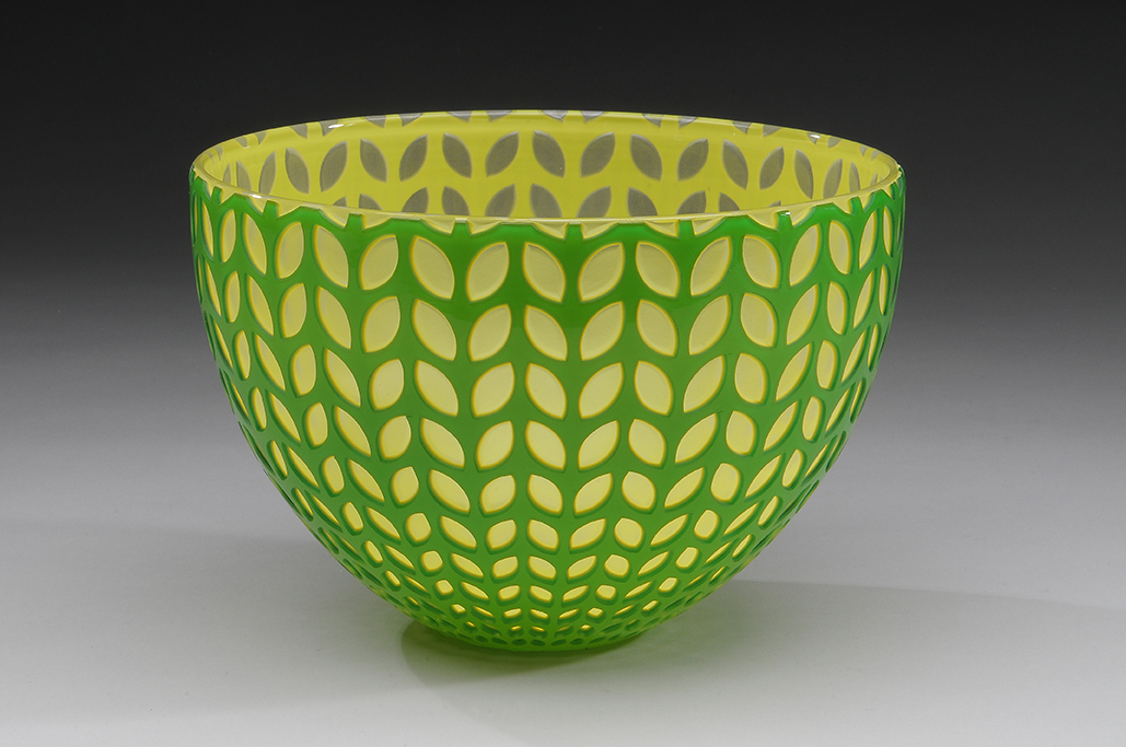 Spring Green Petal Bo... by  Carrie Gustafson - Masterpiece Online