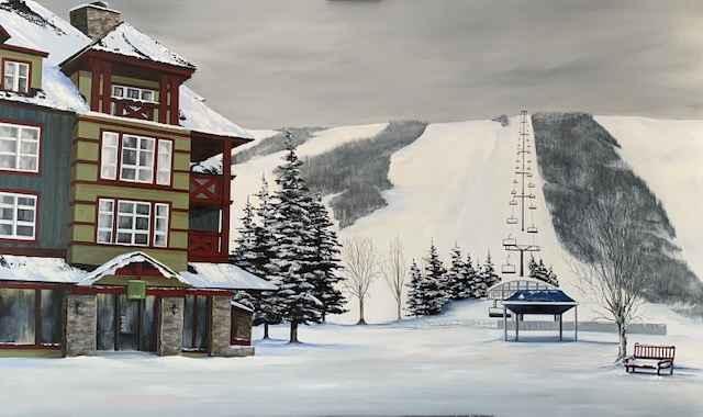 Ski Blue by  Janet Liesemer - Masterpiece Online