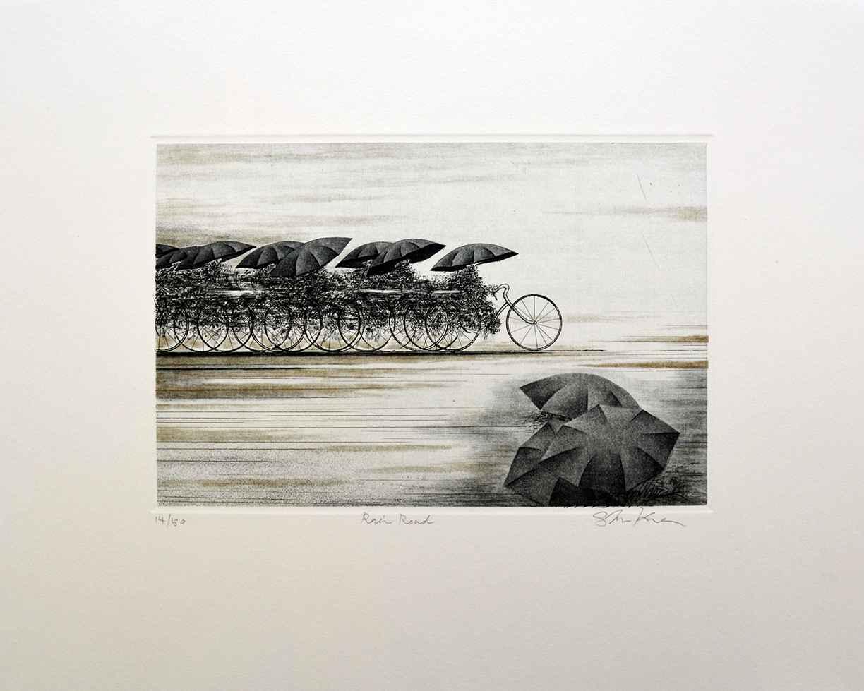 Rain Road by  Shigeki Kuroda - Masterpiece Online