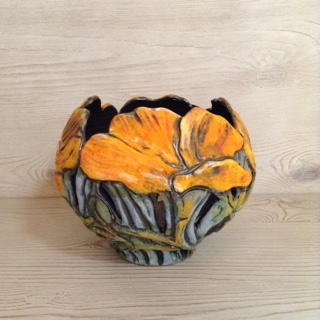 Poppy Rim Candle Bowl