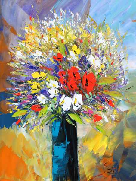 Beautiful Bouquet by  Louis  Magre - Masterpiece Online