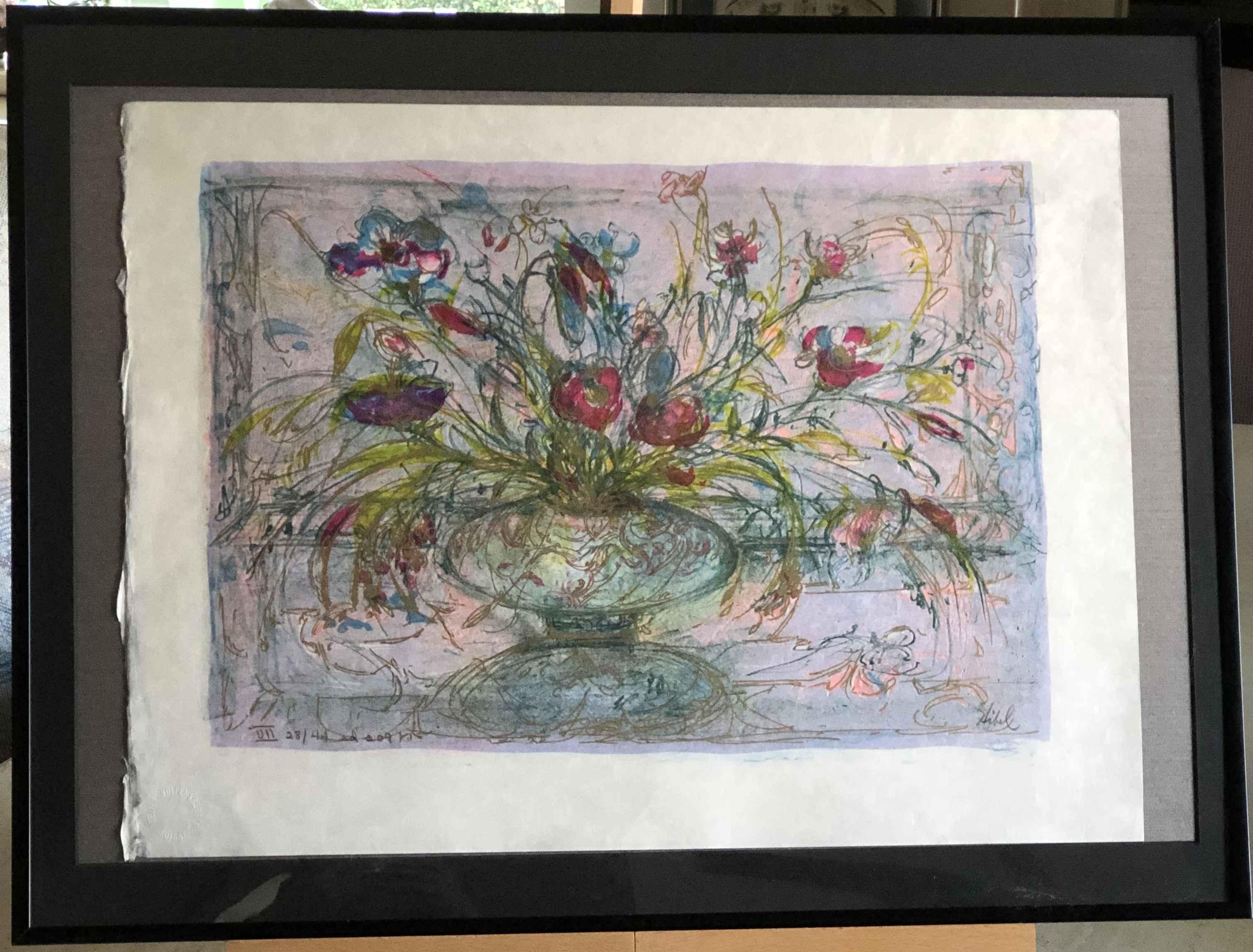 Floral Mystic by  Edna Hibel - Masterpiece Online