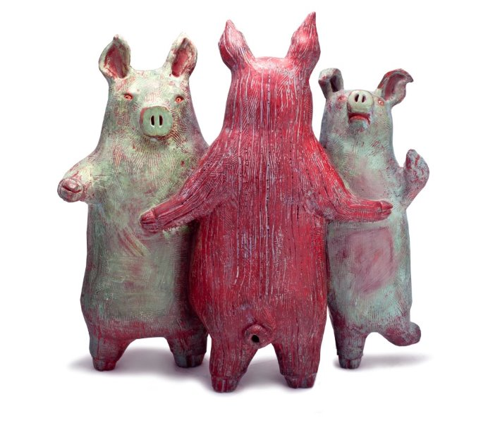 The Three Pigs by  Barbara Fiore - Masterpiece Online