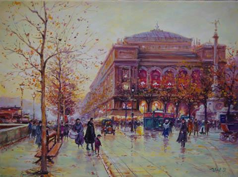 Place du Chatelet by  Vel  Ivanovitch  - Masterpiece Online
