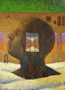 Head With Hourglass  by  Joe Cepeda