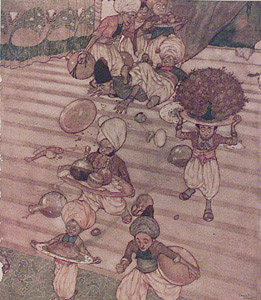 The Banquet represented by  by  Edmund Dulac