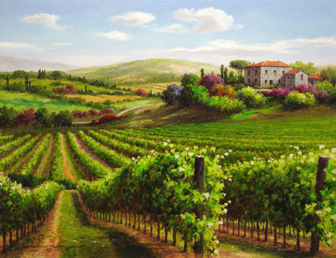 Vineyard Shadows represented  by  Soon Ju Choi