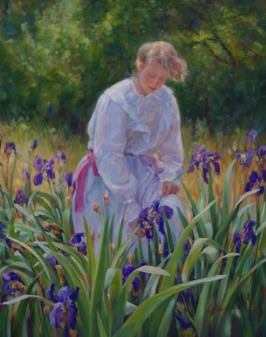 Among the Irises by  Kevin  Albert  - Masterpiece Online