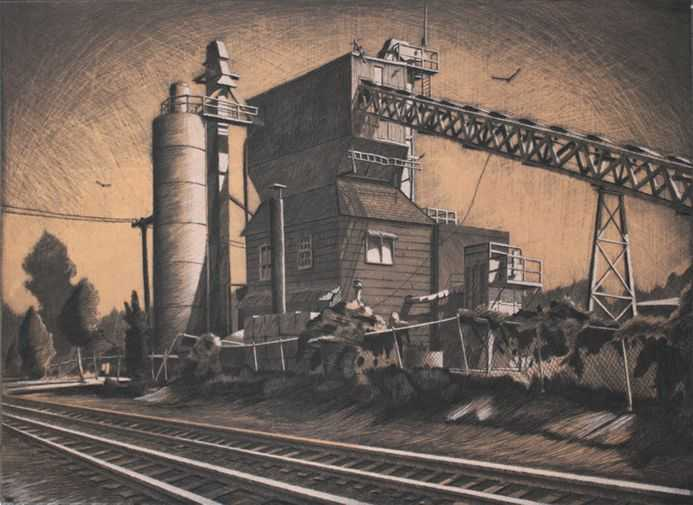 Cement Factory by  Sean Hurley - Masterpiece Online