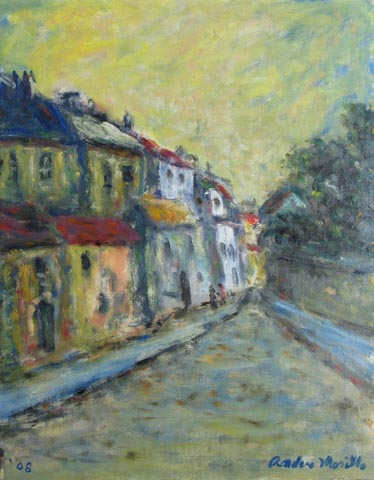 Road with Building by  Andres  Morillo - Masterpiece Online