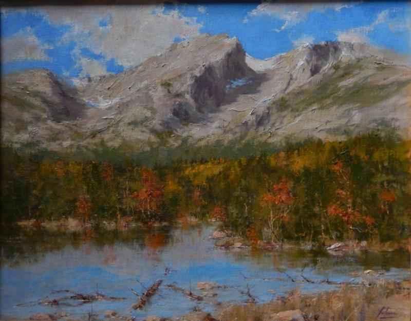 Hallet's Peak In Autu... by  Robert A. Johnson, OPAM - Masterpiece Online