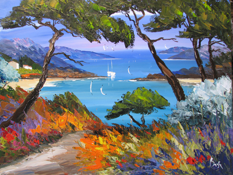Turquoise Inlet by  Louis  Magre - Masterpiece Online